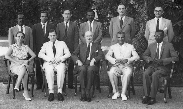 CJ & JJ with members of Executive Council in 1957