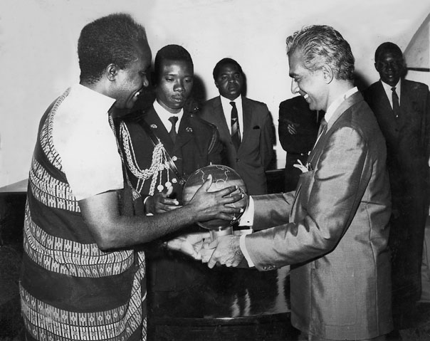 CJ with Prime Minister of Ghana, Dr. Kwame Nkrumah