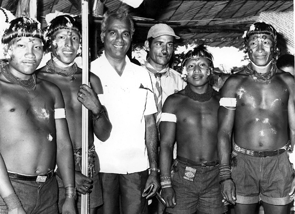 CJ with Amerindians villagers
