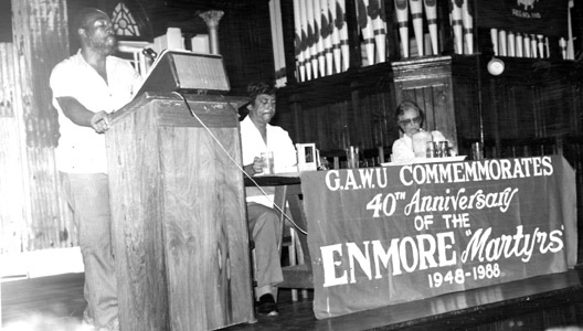 JJ at GAWU 40th Enmore commemoration