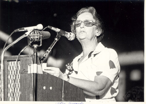 Janet Jagan addressing a meeting